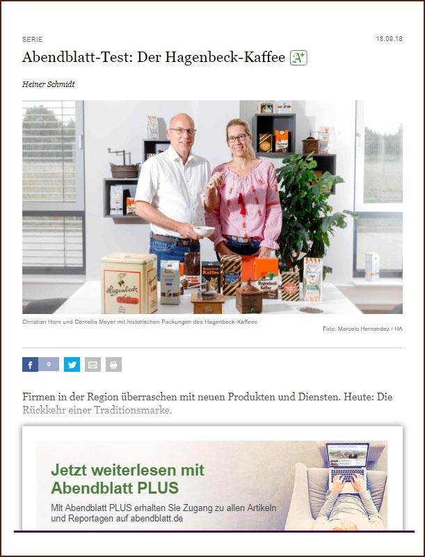 Abendblatt-Test: Der Hagenbeck-Kaffee